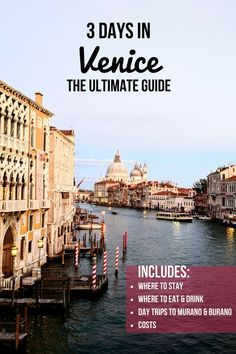 This Guide Will Ensure You Make The Most Of Your 3 Days In Venice It Includes Where To Stay Where To – Best Europe Destinations Europe Destinations, Backpacking Europe, Venice In October, Positano, Amalfi, Venice City, Venice Hotel, Italy Travel Tips, Travel Europe