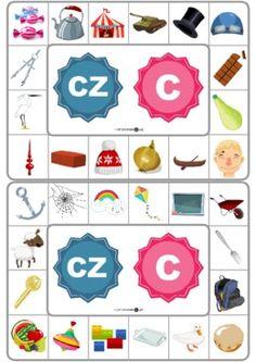 Różnicowanie głosek [cz] i [c] - Printoteka.pl Polish Language, Asd, My Happy Place, Playing Cards, Arts And Crafts, Valentines, Teaching, Education, Games