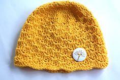 Baby girl hat crochet baby hat yellow baby hat by BambinoStore