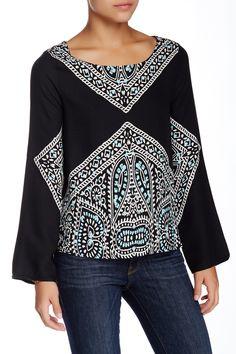Fez Long Sleeve Blouse by Ella Moss on @nordstrom_rack