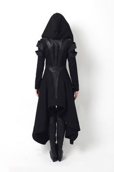Gelareh Designs - Avant Long Coat #black #coat #fashion