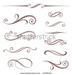 Vectorized Scroll Design, Elements Can Be Ungrouped For Easy Editing