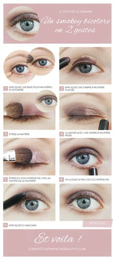 Le smokey eye bicolore en 2 gestes✖️More Pins Like This of At FOSTERGINGER @ Pinterest✖️