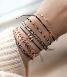 Beauty Stack Bracelets Layering Stackable Pinele Tail Cara Stylish