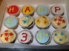 Happy Birthday cupakes from the Dandelion Bakery, Watford