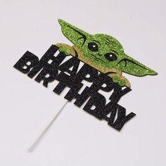Harry Birthday, Star Wars Birthday, Boy Birthday, Cake Birthday, Star Wars Cake Toppers, Disney Cake Toppers, Decoracion Star Wars, Paw Patrol Stickers, Yoda Cake