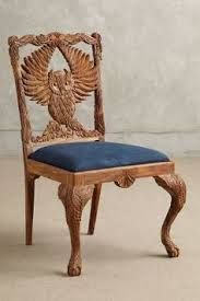 Owl carved chair