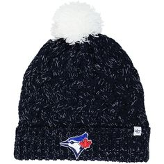 '47 Brand Women's Toronto Blue Jays Fiona Pom Knit Hat (40 CAD) ❤ liked on Polyvore featuring accessories, hats, '47 brand, knit pattern hat, knit hat, pom pom hat and 47 brand hats Toronto Blue Jays, Pom Pom Hat, Knit Patterns, Knitted Hats, Winter Hats, Beanie, Knitting, Polyvore, Accessories