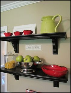 Great post on how to build your own cafe shelves!