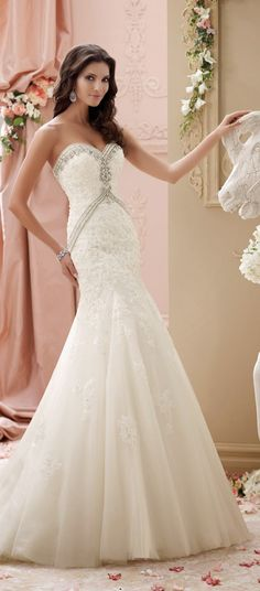 David Tutera for Mon Cheri Spring 2015 Bridal Collection   bellethemagazine.com