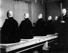 Zen monks meditating