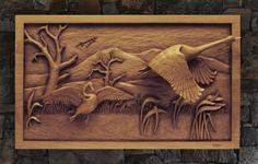 wooden carved pictures | carved-wildlife-relief