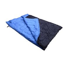 1755537d8c3 Amazon.com   GHP Black   Blue 210T Polyester Taffeta Ripstop Waterproof  Double Sleeping Bag   Sports   Outdoors
