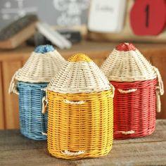Unique Crayon Wicker Basket