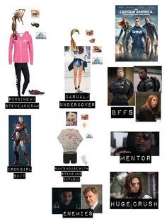 """Me in """"Captain America: The Winter Soldier"""" Marvel Inspired Outfits, Disney Themed Outfits, Character Inspired Outfits, Tv Show Outfits, Fandom Outfits, Outfits For Teens, Movie Outfits, Geek Chic Outfits, Cool Outfits"""