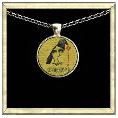 Nevermore  Handmade pendant bezel with glass tile by IttyBaubles, $13.95