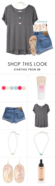 """""""{can't wait for summer break}"""" by preppy-southern-girl-1-2-3 ❤ liked on Polyvore featuring Nails Inc., Maybelline, Abercrombie & Fitch, Organic by John Patrick, Kendra Scott, MAC Cosmetics and Ancient Greek Sandals"""