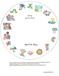 Classroom Freebies: Spring Spin A Story Wheel