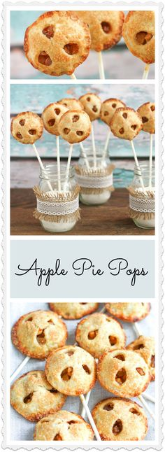 Apple Pie Pops - Apple pie on a stick!