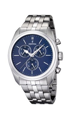 Festina Men's Chronograph Watch with Steel Strap Herren Chronograph, Cute Watches, Online Gift Shop, Omega Watch, Rolex Watches, Man Shop, Steel, Sports, Gifts
