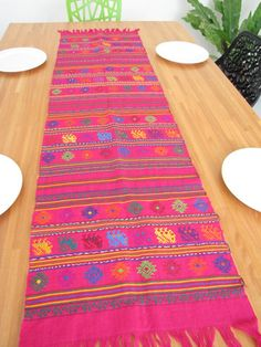 Handwoven Table Runner From Mexico · Mexican EmbroideryMexican StyleTable  ...