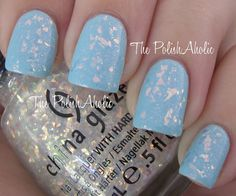 China Glaze Luxe and Lush over Sinful Colors Cinderella which was layered over Illamasqua Nudge