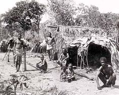 Aboriginal Technology - This photo of Aboriginal Houses was taken in 1894. Source: Aboriginal Technology: Housing, Alex Barlow, Macmillan Education Australia (1994)