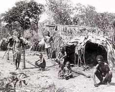 Aboriginal Technology -   This photo of Aboriginal Houses was taken in 1894. Source: Aboriginal Technology: Housing, Alex Barlow, Macmillan Education Australia (1994)