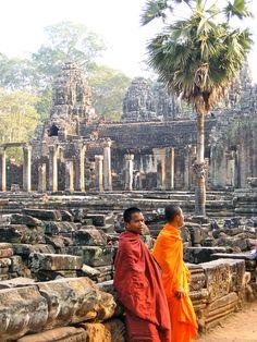 At Cambodia Angkor Wat