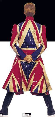 1970s Photo of the great David Bowie from the Ziggy Stardust days wearing the fabulous Union Jack garb. Photo ©PA.