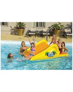 """You need to see this RAVE Sports """"Slick Slider Island"""" Pool Slide on Rue La La.  Get in and shop (quickly!): https://www.ruelala.com/boutique/product/102556/32852835?inv=tsabeet&aid=6191"""