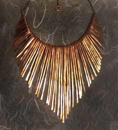 Copper Necklace - Athena - Copper Collar - Handmade Jewelry - smooth edge contour- handmade in Austin, Tx