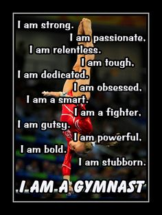 """I AM A GYMNAST Quote Inspiration Motivation Pride Poster Wall Art Print 8x11"""" Traits Character Qualities Attributes - Free USA Shipping by ArleyArtEmporium on Etsy"""