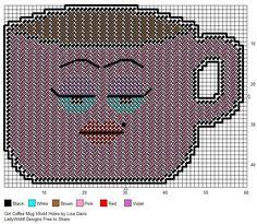 Free Plastic Canvas Mug Rug Patterns Coffee Plastic Canvas Coasters, Plastic Canvas Ornaments, Plastic Canvas Crafts, Plastic Canvas Patterns, Mug Rug Patterns, Cross Stitch Patterns, Mug Rugs, Modern Cross Stitch, Needlepoint