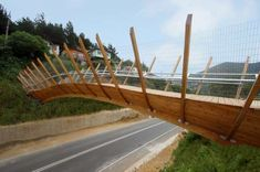 Pedestrian Bridge Helps Chileans Cross the Highway #bridge #architecture trendhunter.com