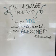 Make it an AWESOME Monday!!! #miss5thswhiteboard #iteach7th #iteachtoo…