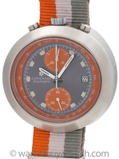 Junghans Stainless Steel Chronograph circa Distinctive manual wind Valjoux 7734 with day and date function produced for the Munich Olympics game. Featuring large egg shaped case 45 X wit… Modern Watches, Egg Shape, Olympic Games, Munich, Chronograph, Olympics, Circa, Large Egg, Silver