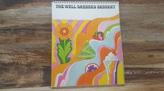 The Well Dressed Dessert, 1968, vintage cookbook, General Foods,  groovy, flower power
