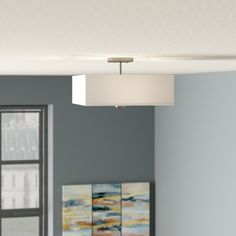 Holloway 3-Light Semi Flush Mount & Reviews | AllModern