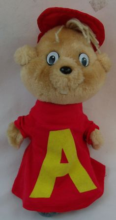 1983 Alvin And The Chipmunks Alvin Plush Stuffed Toy