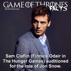 Valar Dohaeris, Valar Morghulis, Game Of Thrones Facts, Sam Claflin, Hunger Games, Jon Snow, Songs, Life, Fictional Characters