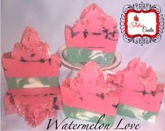 Watermelon Love CP Luxury Soap by SweetloveCandles on Etsy, $6.50