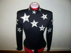 Black with silver stars rail shirt 1 of 3