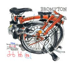 Brompton: Step 1 Fully folded   Flickr - Photo Sharing!