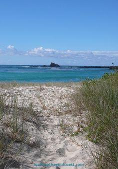 #Palm Beach #Gold Coast Queensland, a view of Currumbin Rock