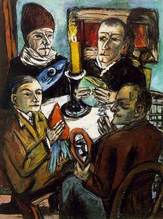 Max Beckmann, Les Artistes mit Gemüse (The Artists with Vegetables), 1943 Max Beckmann, Antoine Bourdelle, Carl Friedrich, Tableaux Vivants, Illustrator, Degenerate Art, Expressionist Artists, German Expressionism Art, Art Abstrait