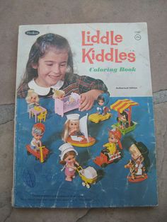 Liddle Kiddles 1960's Whitman Coloring Book Few Pages Colored | eBay