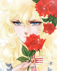 Versailles no Bara Real Anime, Old Anime, Manga Art, Manga Anime, Anime Art, Oscar Cartoon, Lady Oscar, Illusion Photos, Red Rose Flower