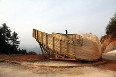 the sweep observation deck by olivier ottevaere + john lin in china