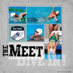 .the meet.  Swim scrapbook